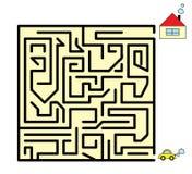 Jogo do labirinto Fotografia de Stock