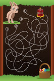 Jogo do labirinto Imagens de Stock