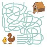 Jogo do labirinto Foto de Stock Royalty Free