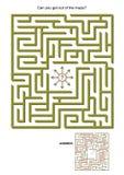 Jogo do labirinto Fotos de Stock