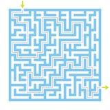 Jogo do labirinto do labirinto com solução ilustração do vetor