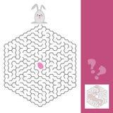 Jogo do labirinto da Páscoa ou página da atividade para crianças com resposta Imagem de Stock Royalty Free
