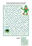 Jogo do labirinto - duende e potenciômetro de ouro Imagem de Stock
