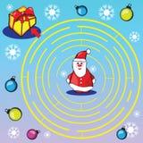 Jogo do labirinto ou página da atividade para crianças Imagem de Stock