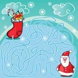 Jogo do labirinto ou página da atividade para crianças Fotografia de Stock
