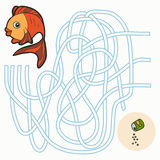 Jogo do labirinto para crianças (peixes) Fotos de Stock Royalty Free