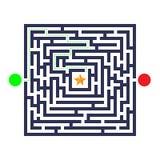 Jogo do labirinto Três entradas, uma saída e uma maneira direita ir Mas muitos trajetos a bloquear Ilustração do vetor ilustração do vetor
