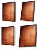Jogo do livro de Leatherbound Imagens de Stock Royalty Free