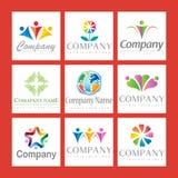 Jogo do logotipo da companhia Fotos de Stock Royalty Free