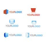 Jogo do logotipo da companhia do edifício do vetor Fotos de Stock Royalty Free