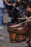 Jogo do músico da rua Imagem de Stock Royalty Free