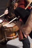 Jogo do músico da rua Imagens de Stock