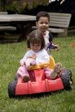 Jogo do menino e da menina Fotografia de Stock