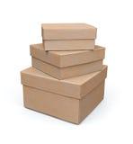 Jogo do modelo das caixas de papel 3d Fotos de Stock