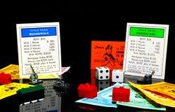 Jogo do monopólio Imagem de Stock