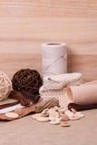 Jogo do ofício da costura Costurando acessórios do passatempo imagens de stock