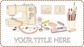 Jogo do ofício e do needlework Imagem de Stock