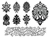 Jogo do ornamento floral do vetor Fotos de Stock Royalty Free