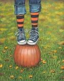 Jogo do outono ilustração stock