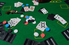 Jogo do póquer Imagens de Stock