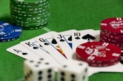 Jogo do pôquer Fotografia de Stock