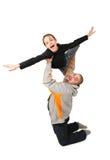 Jogo do pai com filha Foto de Stock