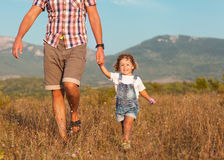 Jogo do pai e da filha Imagens de Stock Royalty Free