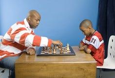 Jogo do pai e do filho Imagem de Stock Royalty Free