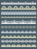Jogo do papel de laço para o Natal, vetor Imagem de Stock Royalty Free