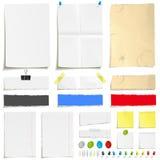Jogo do papel e do paperclip Imagem de Stock