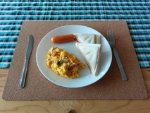 Jogo do pequeno almoço Fotos de Stock Royalty Free