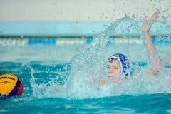 Jogo do polo aquático Foto de Stock Royalty Free