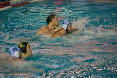 Jogo do polo aquático Imagem de Stock