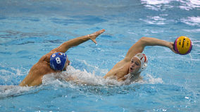 Jogo do polo aquático de Kaposvar - de Honved Foto de Stock Royalty Free