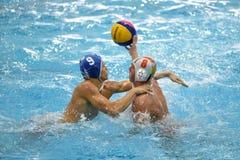 Jogo do polo aquático de Kaposvar - de Honved Imagens de Stock Royalty Free