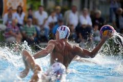 Jogo do polo aquático de Kaposvar - de Honves Fotografia de Stock