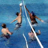 Jogo do polo de água Foto de Stock Royalty Free