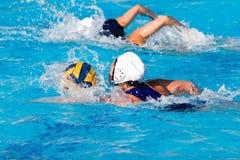 Jogo do polo de água Fotos de Stock Royalty Free