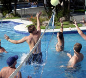 Jogo do polo de água imagens de stock royalty free