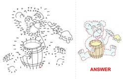 Jogo do ponto do urso Imagem de Stock