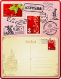 Jogo do porte postal do Natal Fotografia de Stock