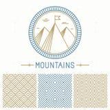 Jogo do projeto da montanha do vetor Fotos de Stock