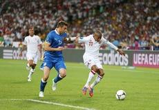 Jogo 2012 do quartos de final do EURO do UEFA Inglaterra v Itália Foto de Stock Royalty Free