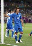Jogo 2012 do quartos de final do EURO do UEFA Inglaterra v Itália Imagem de Stock Royalty Free