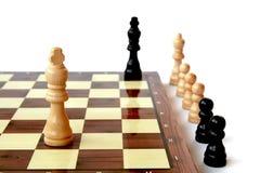 Jogo do rei da xadrez Fotografia de Stock Royalty Free