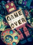 Jogo do robô sobre Foto de Stock