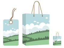 Jogo do saco e do Tag ilustração stock