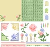 Jogo do scrapbook do modo da flor ilustração do vetor