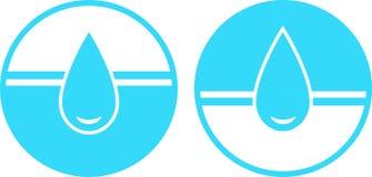 Jogo do sinal da gota da água Imagem de Stock