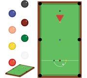 Jogo do Snooker Fotos de Stock Royalty Free